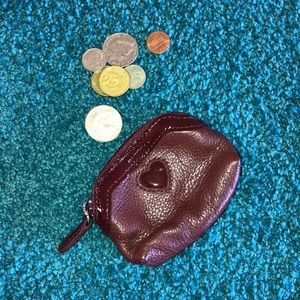Handbags - Brighton NWOT Leather Burgundy Coin Purse